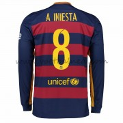 Voetbalshirts Clubs Barcelona 2016-17 A. Iniesta 8 Thuisshirt Lange Mouw..