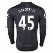 Voetbalshirts Clubs Liverpool 2016-17 Balotelli 45 Third Shirt Lange Mouw..