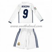 Voetbaltenue Kind Real Madrid 2016-17 Benzema 9 Thuisshirt Lange Mouw..