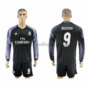 Voetbalshirts Clubs Real Madrid 2016-17 Benzema 9 Third Shirt Lange Mouw..