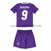 Voetbaltenue Kind Real Madrid 2016-17 Benzema 9 Uitshirt..