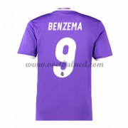 Voetbalshirts Clubs Real Madrid 2016-17 Benzema 9 Uitshirt..