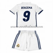 Voetbaltenue Kind Real Madrid 2016-17 Benzema 9 Thuisshirt..