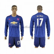 Voetbalshirts Clubs Manchester United 2016-17 Blind 17 Uitshirt Lange Mouw..