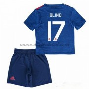 Voetbaltenue Kind Manchester United 2016-17 Blind 17 Uitshirt..