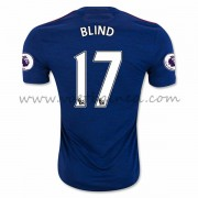 Voetbalshirts Clubs Manchester United 2016-17 Blind 17 Uitshirt..