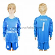 Voetbaltenue Kind Real Madrid 2016-17 Casillas 1 Keeper Thuisshirt Lange Mouw..