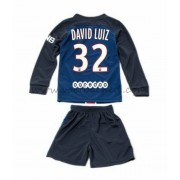 Voetbaltenue Kind Paris Saint Germain PSG 2016-17 David Luiz 32 Thuisshirt Lange Mouw..