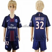 Voetbaltenue Kind Paris Saint Germain PSG 2016-17 David Luiz 32 Thuisshirt..