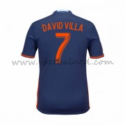 Voetbalshirts Clubs New York City 2016-17 David Villa 7 Uitshirt..