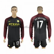 Voetbalshirts Clubs Manchester City 2016-17 De Bruyne 17 Uitshirt Lange Mouw..