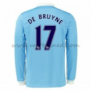 Voetbalshirts Clubs Manchester City 2016-17 De Bruyne 17 Thuisshirt Lange Mouw..