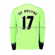 Voetbalshirts Clubs Manchester City 2016-17 De Bruyne 17 Third Shirt Lange Mouw..