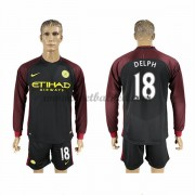 Voetbalshirts Clubs Manchester City 2016-17 Delph 18 Uitshirt Lange Mouw..