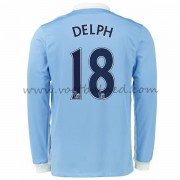 Voetbalshirts Clubs Manchester City 2016-17 Delph 18 Thuisshirt Lange Mouw..