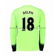 Voetbalshirts Clubs Manchester City 2016-17 Delph 18 Third Shirt Lange Mouw..