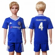 Voetbaltenue Kind Chelsea 2016-17 Fabregas 4 Thuisshirt..
