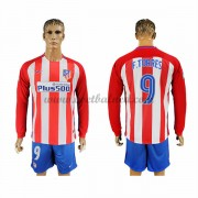 Voetbalshirts Clubs Atletico Madrid 2016-17 Fernando Torres 9 Thuisshirt Lange Mouw..