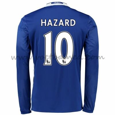 Voetbalshirts Clubs Chelsea 2016-17 Hazard 10 Thuisshirt Lange Mouw