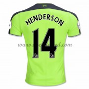 Voetbalshirts Clubs Liverpool 2016-17 Henderson 14 Third Shirt..
