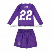 Voetbaltenue Kind Real Madrid 2016-17 Isco 22 Uitshirt Lange Mouw..