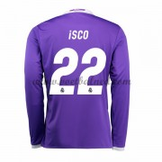 Voetbalshirts Clubs Real Madrid 2016-17 Isco 22 Uitshirt Lange Mouw..
