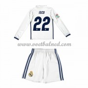 Voetbaltenue Kind Real Madrid 2016-17 Isco 22 Thuisshirt Lange Mouw..