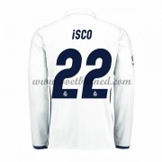 Voetbalshirts Clubs Real Madrid 2016-17 Isco 22 Thuisshirt Lange Mouw..