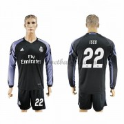Voetbalshirts Clubs Real Madrid 2016-17 Isco 22 Third Shirt Lange Mouw..