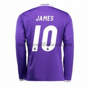 Voetbalshirts Clubs Real Madrid 2016-17 James 10 Uitshirt Lange Mouw..