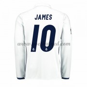 Voetbalshirts Clubs Real Madrid 2016-17 James 10 Thuisshirt Lange Mouw..