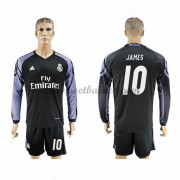Voetbalshirts Clubs Real Madrid 2016-17 James 10 Third Shirt Lange Mouw..