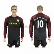 Voetbalshirts Clubs Manchester City 2016-17 Kun Aguero 10 Uitshirt Lange Mouw..