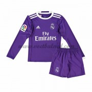 Voetbaltenue Kind Real Madrid 2016-17 Uitshirt Lange Mouw..