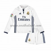 Voetbaltenue Kind Real Madrid 2016-17 Thuisshirt Lange Mouw..