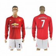 Voetbalshirts Clubs Manchester United 2016-17 Memphis 7 Thuisshirt Lange Mouw..