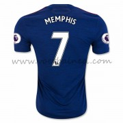 Voetbalshirts Clubs Manchester United 2016-17 Memphis 7 Uitshirt..