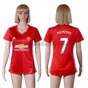 Goedkope Voetbalshirts Dames Manchester United 2016-17 Memphis Depay 7 Thuisshirt..