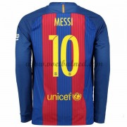 Voetbalshirts Clubs Barcelona 2016-17 Messi 10 Thuisshirt Lange Mouw..
