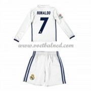 Voetbaltenue Kind Real Madrid 2016-17 Ronaldo 7 Thuisshirt Lange Mouw..