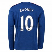 Voetbalshirts Clubs Manchester United 2016-17 Rooney 10 Uitshirt Lange Mouw..