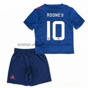 Voetbaltenue Kind Manchester United 2016-17 Rooney 10 Uitshirt..