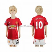 Voetbaltenue Kind Manchester United 2016-17 Rooney 10 Thuisshirt..