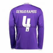 Voetbalshirts Clubs Real Madrid 2016-17 Sergio Ramos 4 Uitshirt Lange Mouw..