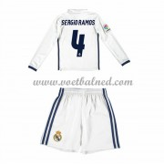 Voetbaltenue Kind Real Madrid 2016-17 Sergio Ramos 4 Thuisshirt Lange Mouw..