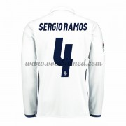 Voetbalshirts Clubs Real Madrid 2016-17 Sergio Ramos 4 Thuisshirt Lange Mouw..