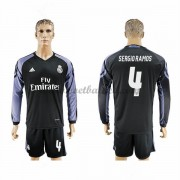 Voetbalshirts Clubs Real Madrid 2016-17 Sergio Ramos 4 Third Shirt Lange Mouw..