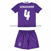 Voetbaltenue Kind Real Madrid 2016-17 Sergio Ramos 4 Uitshirt..