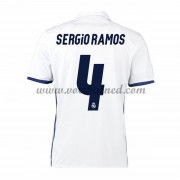 Voetbalshirts Clubs Real Madrid 2016-17 Sergio Ramos 4 Thuisshirt..