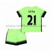 Voetbaltenue Kind Manchester City 2016-17 Silva 21 Third Shirt..